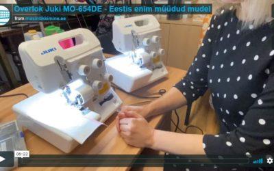 Overlok Juki MO-654DE tutvustusvideo